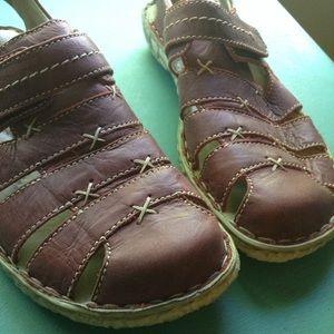 b6b05a5b6be36 exc JOSEF SEIBEL red Ida sandals shoes 37 7